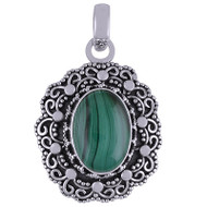 Streams of Malachite Pendant