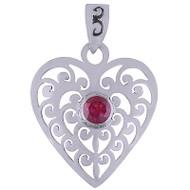 Petite Ruby Heart Pendant
