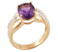 Real Gold Plated Silver Amethyst Ring