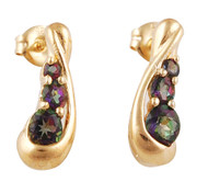 Gold Plated Silver Mystic Topaz Earrings