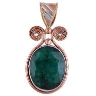 Renaissance Style Emerald Pendant