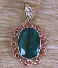 Emerald Sun Renaissance Style Pendant
