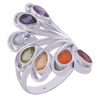 Grand Chakra Sterling Silver Ring Size 9.5