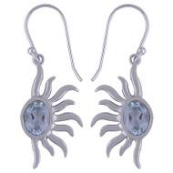 Topaz Sun Sterling Silver Earrings