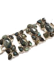 Nile Queen Labradorite CONDUCTIVE SILVER Bracelet