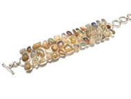 Real Opal CONDUCTIVE SILVER Bracelet