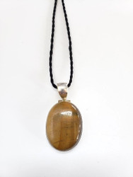 Tigers Eye CONDUCTIVE SILVER Pendant