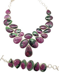 Ruby Zoisite CONDUCTIVE SILVER Set