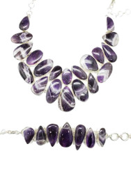 Banded Amethyst CONDUCTIVE SILVER Set