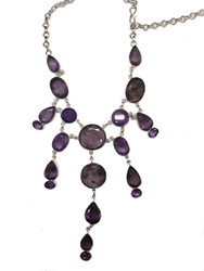 Purple Rays of Amethyst Necklace