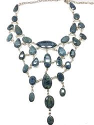 Aquamarine Mermaid Queen Necklace