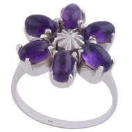 Royal Flower Amethyst Ring