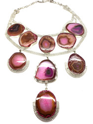 Pretty in Pink Agate Necklace