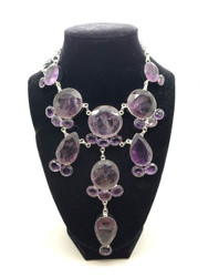 Amethyst Purple Lace Necklace