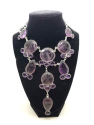 Amethyst Purple Lace Necklace