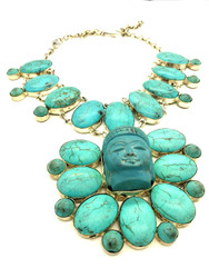 Turquoise Buddha Bliss Necklace