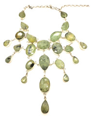 Green Garnet Dew Drops Necklace