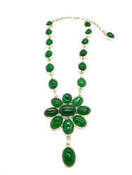 Emerald Gumdrops Necklace