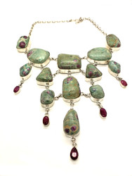 Ruby Raindrops Necklace
