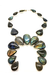 Labradorite's Majestic Shimmer Rainbow Necklace