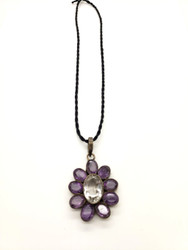 Clearly Purple Petal Pendant