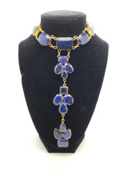 India Blue Sapphire Droplets Necklace