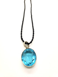 Faceted Blue Quartz Pendant