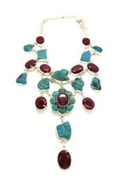 STARSEED QUEEN- Indian Ruby & Turquoise in the Raw