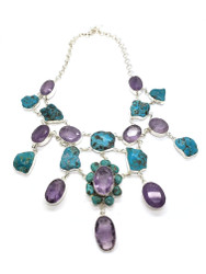 VIOLET QUEEN- Amethyst & Turquoise in the Raw