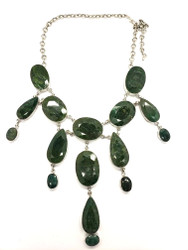 JUICY GEMS GREEN GARNET NECKLACE