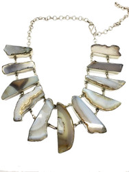 Natural Art Agate Necklace