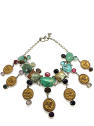Sunny Coins Turquoise Necklace