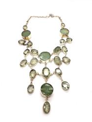Crystal Jade Flower Garden Necklace