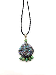 Turquoise Sparkle Galaxy Pendant