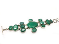 Emerald Waterfall Bracelet