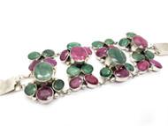 Ruby Emerald Cascades Bracelet