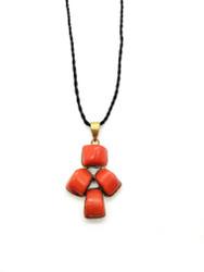 Red Coral Mini Man Pendant