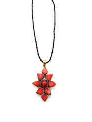 Fire Meadows Star Flower Pendant