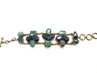 Sapphire Rain on Emerald Meadows Bracelet