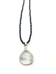 Petite Moonstone Conductive Silver Pendant