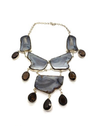 Smokey Dewdrops Agate Necklace