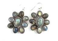 Labradorite Shimmer Daisy Earrings