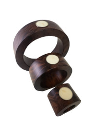Nesting Mango wood Candle Holder Set