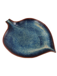 Enchanted Blue Leaf Plate