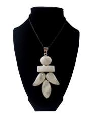 Leafy Moonstone Pendant