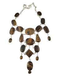 Tigers Eye Waterfall Necklace