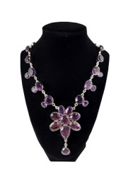Amethyst Flower Necklace