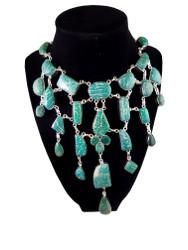 Russian Amazonite Waterfall Necklace