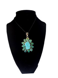 Turquoise All Around Pendant