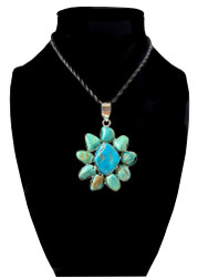 Turquoise Dream Flower Pendant